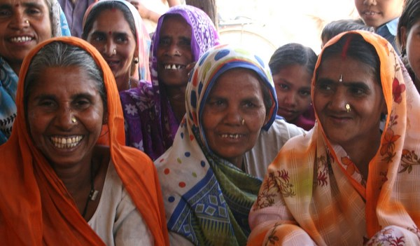 Nirmila (in purple) with her Self Help Group