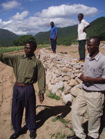 Farmers demonstrate the methods they have used